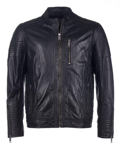 Maze Leather Jacket, Men Roussanne