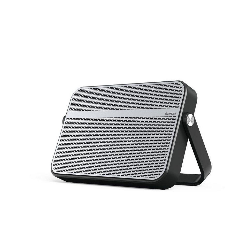 Hama Mobiler Bluetooth Lautsprecher Blade mit 3,5 mm Klinke 10 W »spritzwassergeschützt tragbar« in Silber