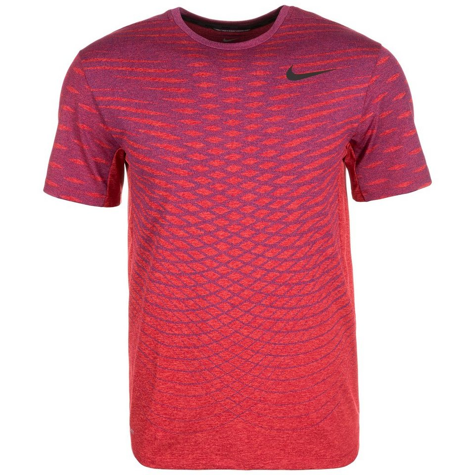 NIKE Ultimate Dry Trainingsshirt Herren in rot / blau