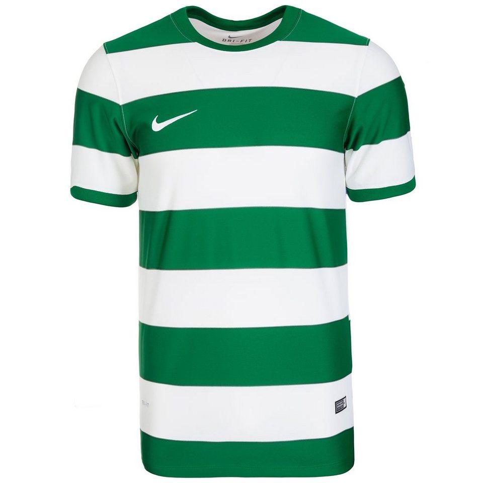 NIKE Hooped Division II Fußballtrikot Herren in grün / weiß