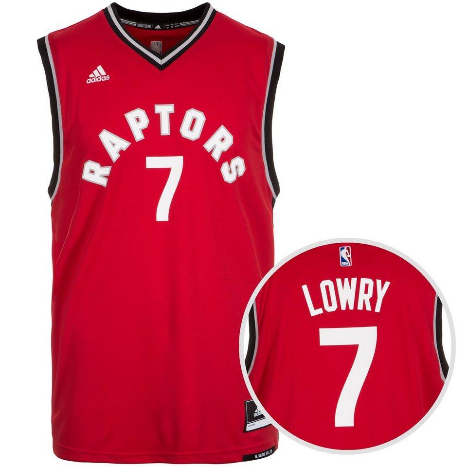 adidas Performance Toronto Raptors Lowry Replica Basketballtrikot Herren in rot / schwarz / grau
