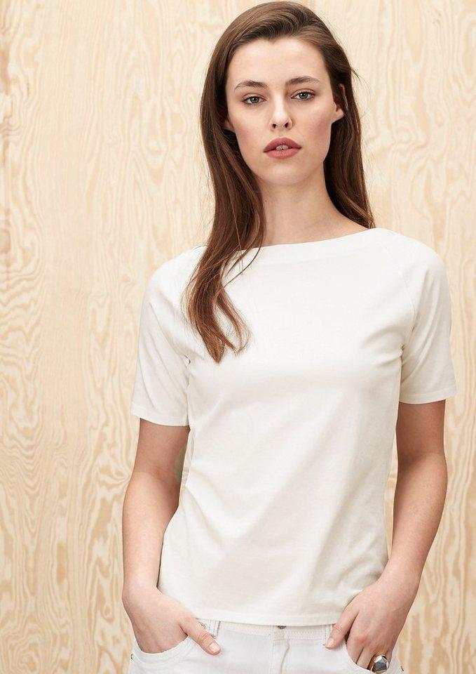 s.Oliver PREMIUM Stretchiges Raglanshirt in summer white