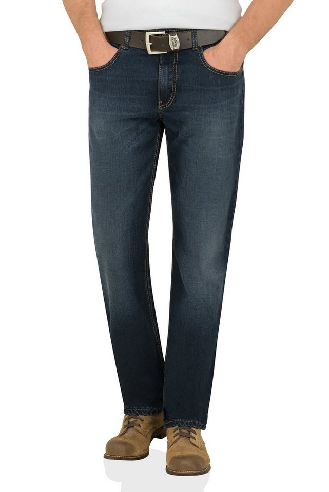 PADDOCK'S Saddle Stitch Jeans »CARTER« in rinse soft used