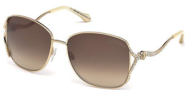 Roberto Cavalli Damen Sonnenbrille » RC887S« in 28F - gold/braun