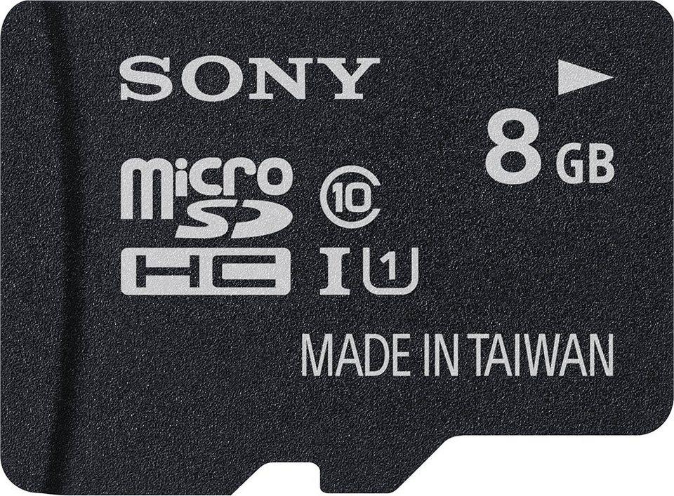 Sony microSDHC Card 8GB, Performance, Class 10, UHS-I in black
