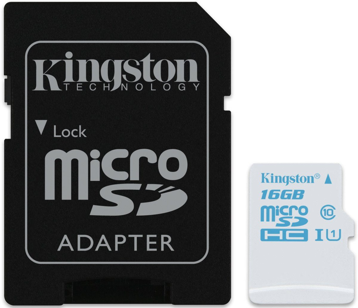 Kingston Speicherkarte »microSDHC Action Cam UHS-I U3, mit Adapter, 16GB«