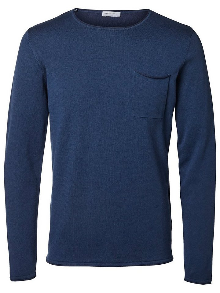 Selected Crew-Neck- Strickpullover in Insignia Blue