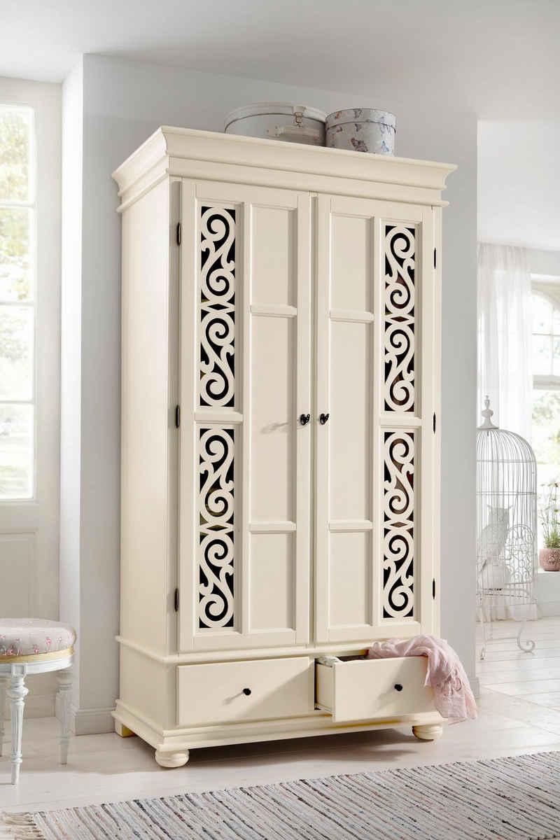 Premium collection by Home affaire Drehtürenschrank »Arabeske« aus teilmassivem Holz mit schönen Ornamenten auf den Türfronten