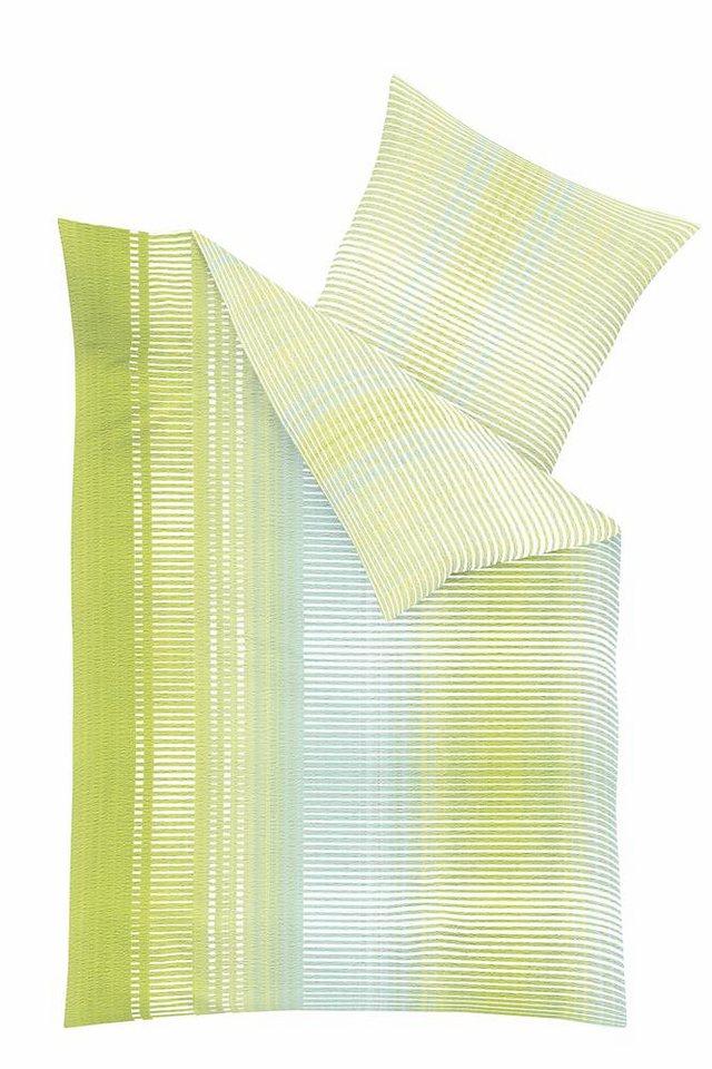 Bettwäsche, Kaeppel, »Label«, in Streifen Optik in grün