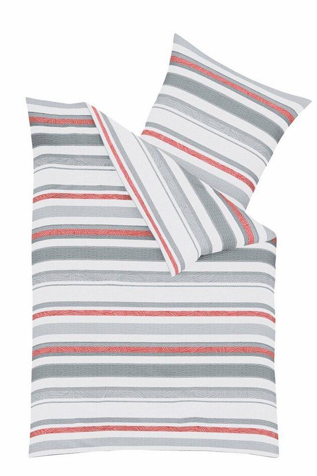Bettwäsche, Kaeppel, »Bracing«, im Streifen Design in grau