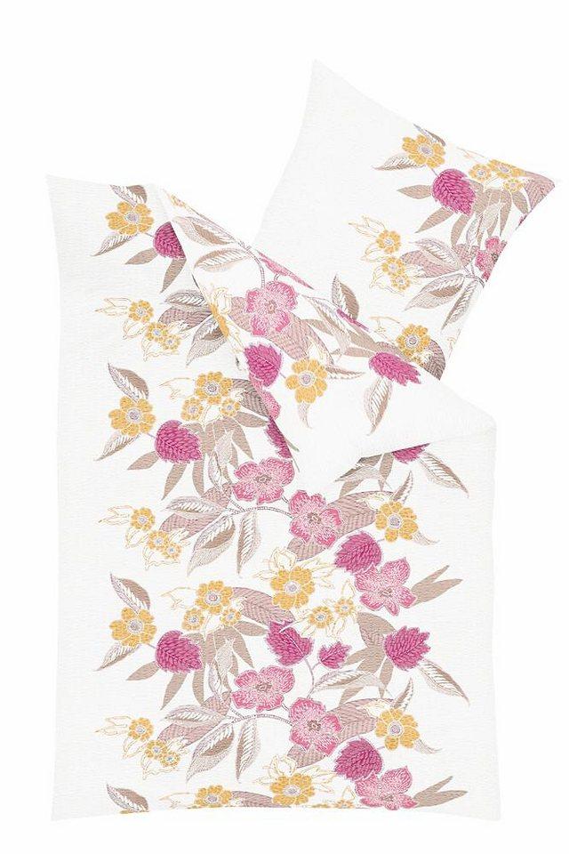 Bettwäsche, Kaeppel, »Aloha«, im Blumen-Design in rosé