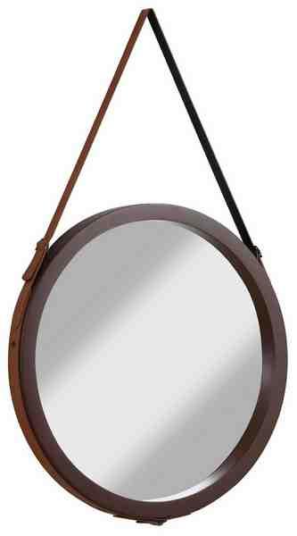G&C Spiegel mit einer Aufhängung aus Kunstleder