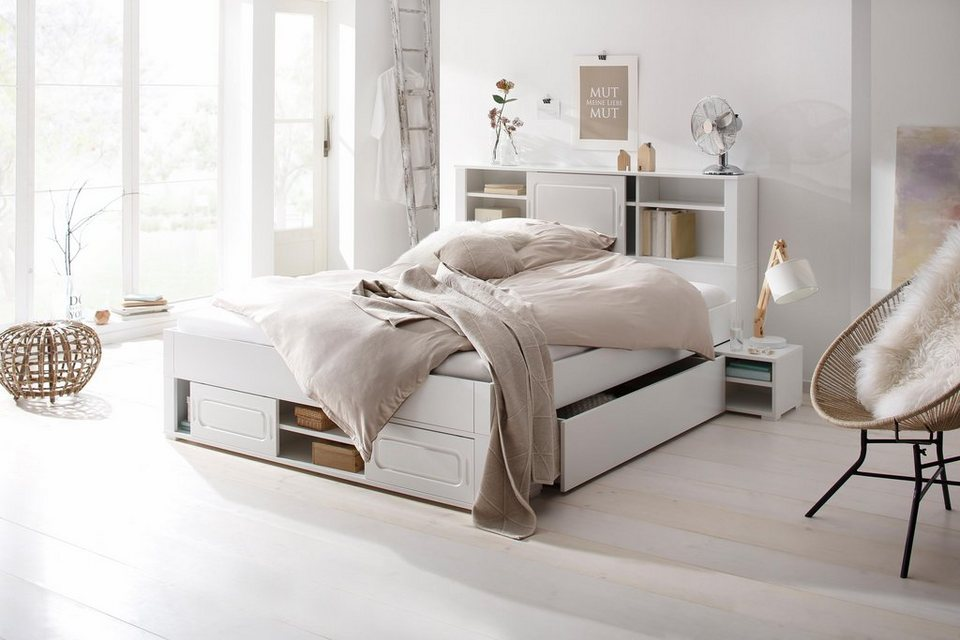 home affaire stauraumbett marta online kaufen otto. Black Bedroom Furniture Sets. Home Design Ideas