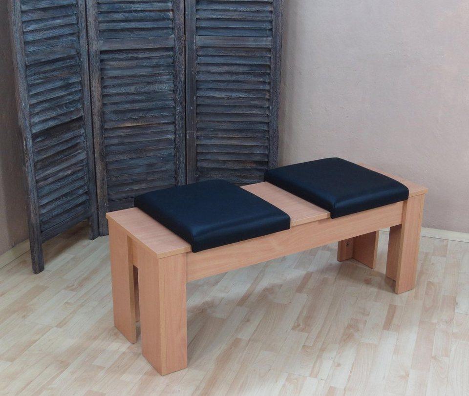 sitzbank breite 120 cm incl abnehmbarer sitzpolster online kaufen otto. Black Bedroom Furniture Sets. Home Design Ideas