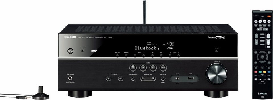 RX-V481 DAB 5.1 AV-Receiver (Hi-Res, Spotify Connect, Airplay, WLAN, Bluetooth) in schwarz