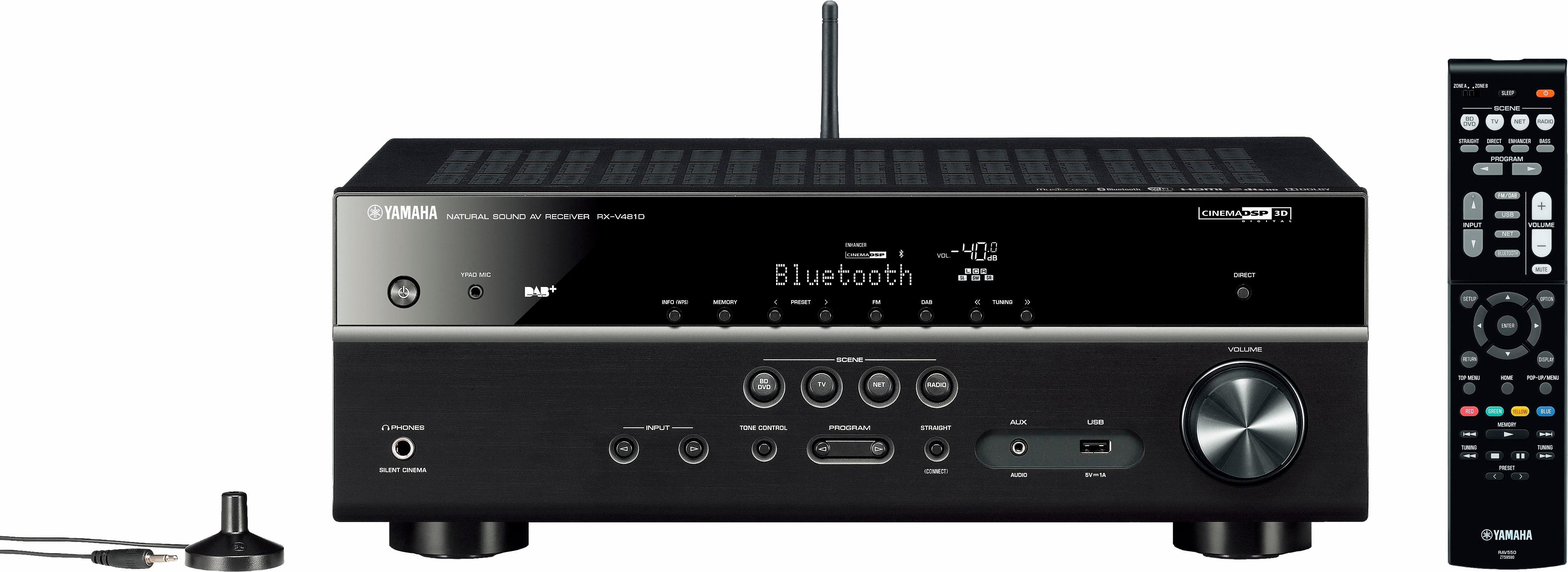 RX-V481 DAB 5.1 AV-Receiver (Hi-Res, Spotify Connect, Airplay, WLAN, Bluetooth)