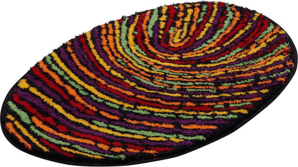 Badematte, GRUND, »Fingerprint«, Höhe 20 mm, rutschhemmender Rücken in bunt