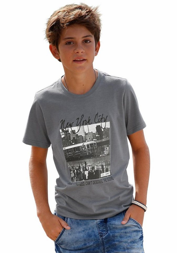 """Arizona T-Shirt """"New York City"""" in grau-meliert"""