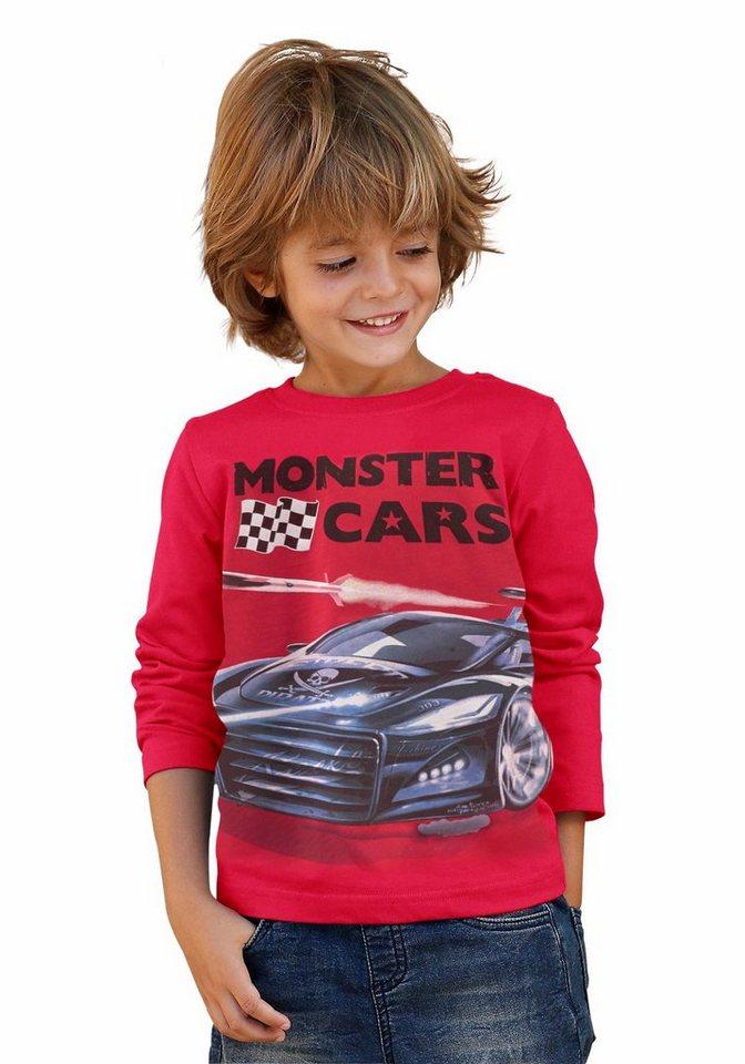 """Monster Cars Langarmshirt """"Monster Cars"""" in rot"""