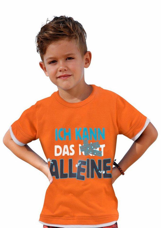 """CFL T-Shirt """"Ich kann das alleine"""" in orange"""
