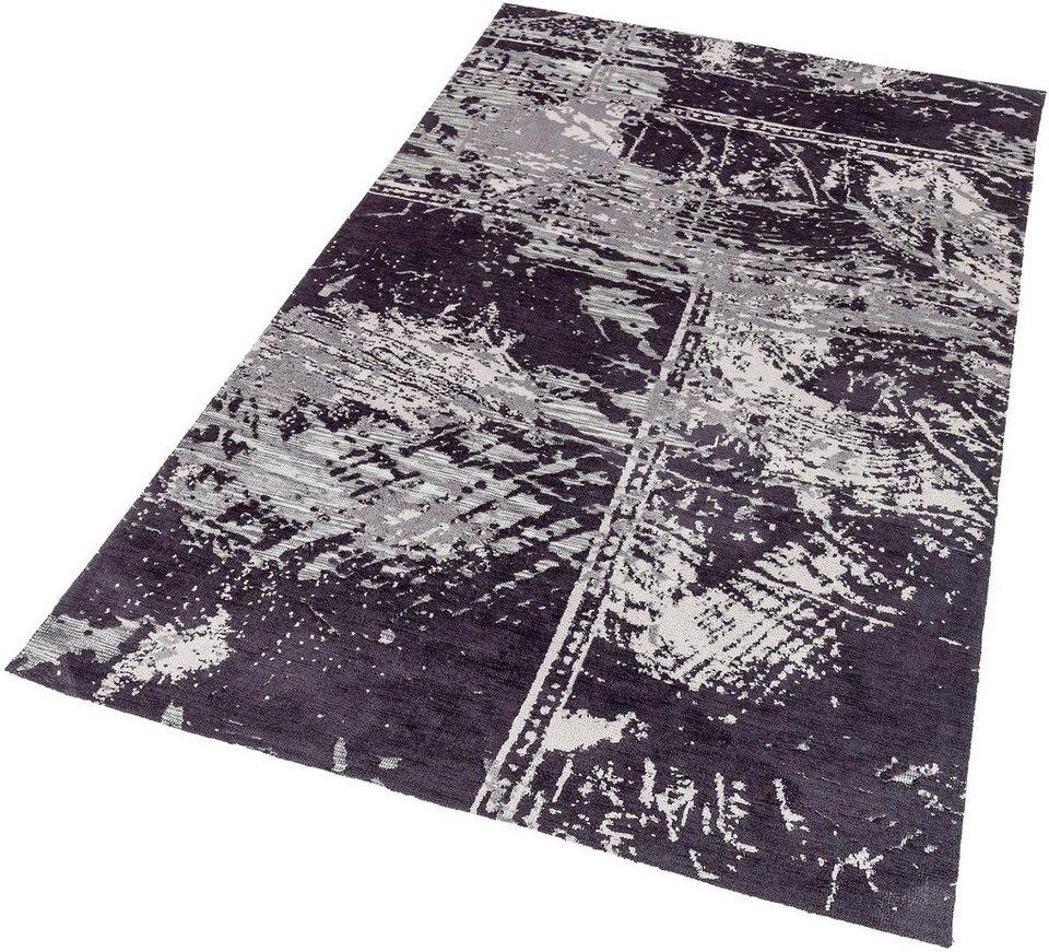 Teppich, Astra, »Teramo Patchwork«, gewebt in schwarz
