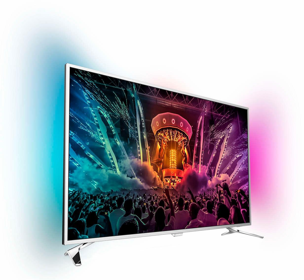 Philips 49PUS6501/12, LED Fernseher, 123 cm (49 Zoll), 2160p (4K Ultra HD) Ambilight, Smart-TV