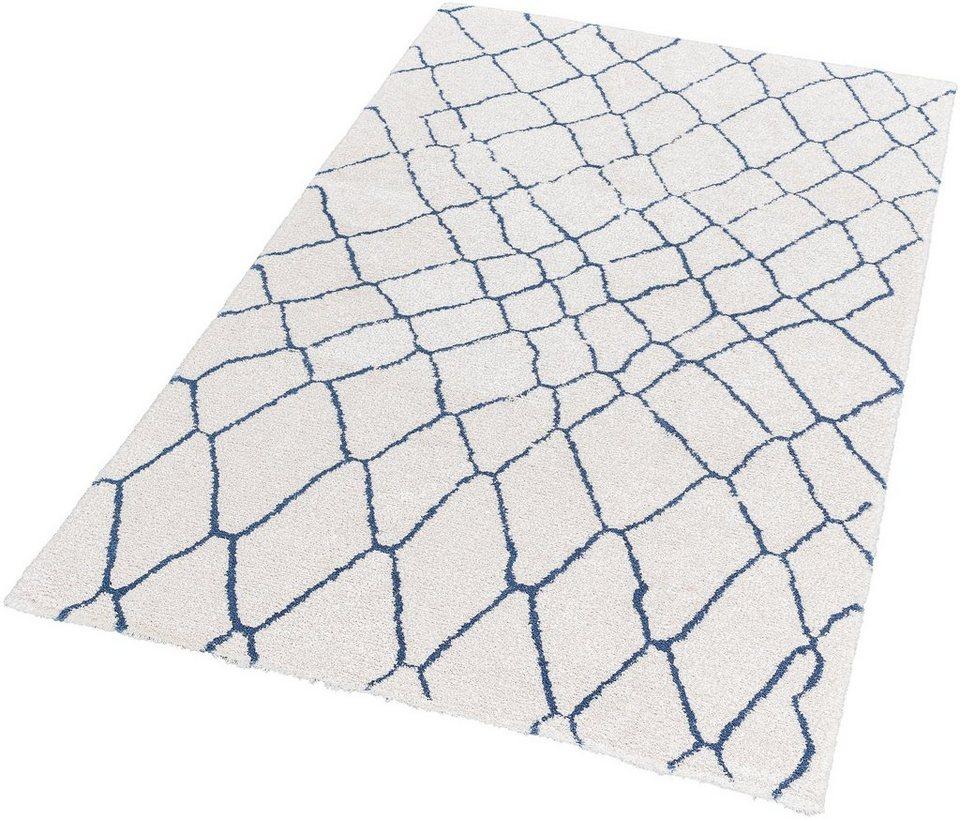 Hochflor-Teppich, Schöner Wohnen, »Dream«, Höhe 25 mm, getuftet in weiß