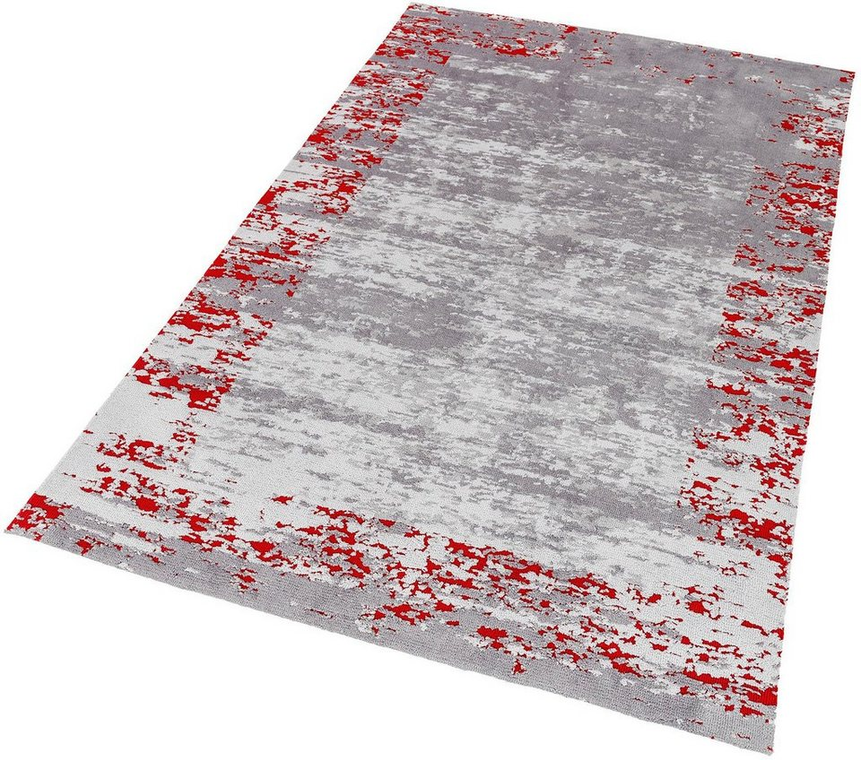 Teppich, Astra, »Teramo Bordüre«, gewebt in grau rot