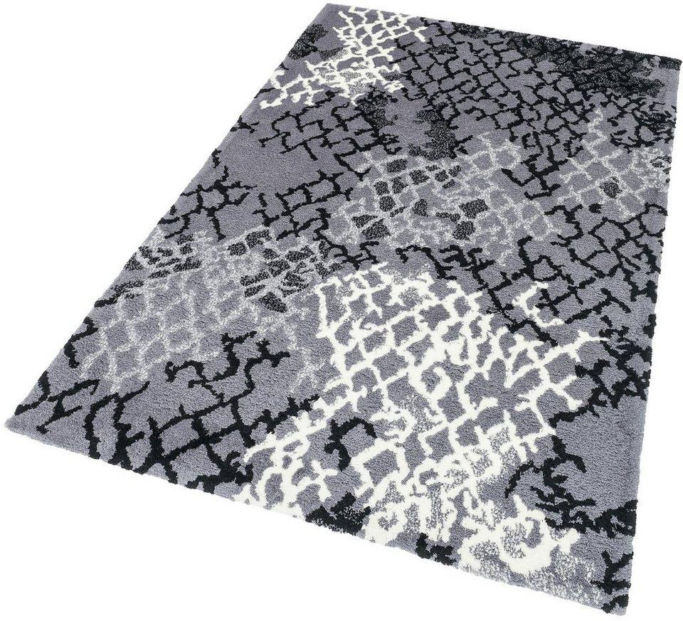 Hochflor-Teppich, Astra, »Verona Netz«, Höhe 25 mm, getuftet in anthrazit