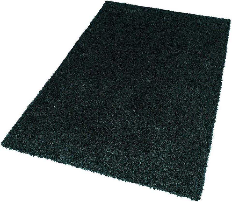 Hochflor-Teppich, Schöner Wohnen, »New Feeling«, Höhe 40 mm, getuftet in dunkelgrün