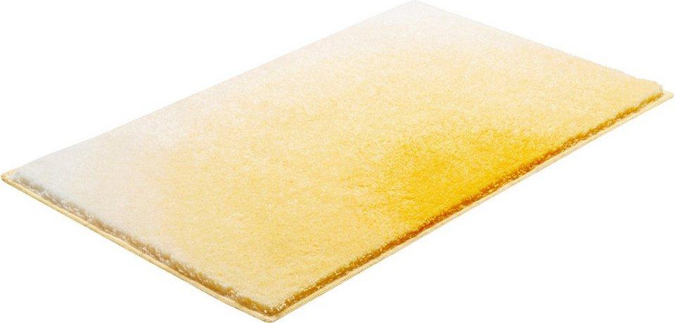 Badematte, GRUND, »Sunshine«, Höhe 24 mm, rutschhemmender Rücken in gelb