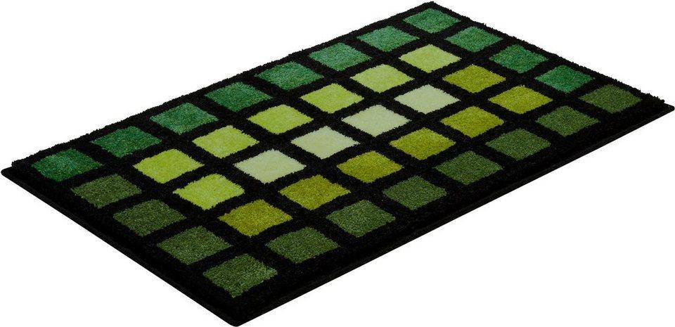 Badematte, GRUND, »Matrix«, Höhe 20 mm, rutschhemmender Rücken in grün