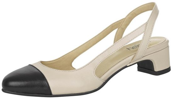 Heine Sling Pumps With Embossing