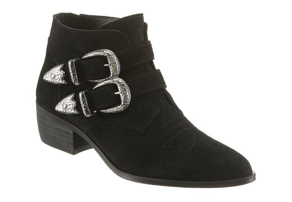 Vero Moda Westernstiefelette in schwarz