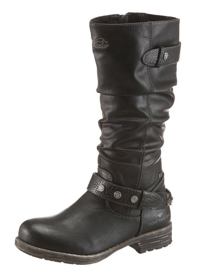 Tom Tailor Stiefel mit Tex Ausstattung in schwarz