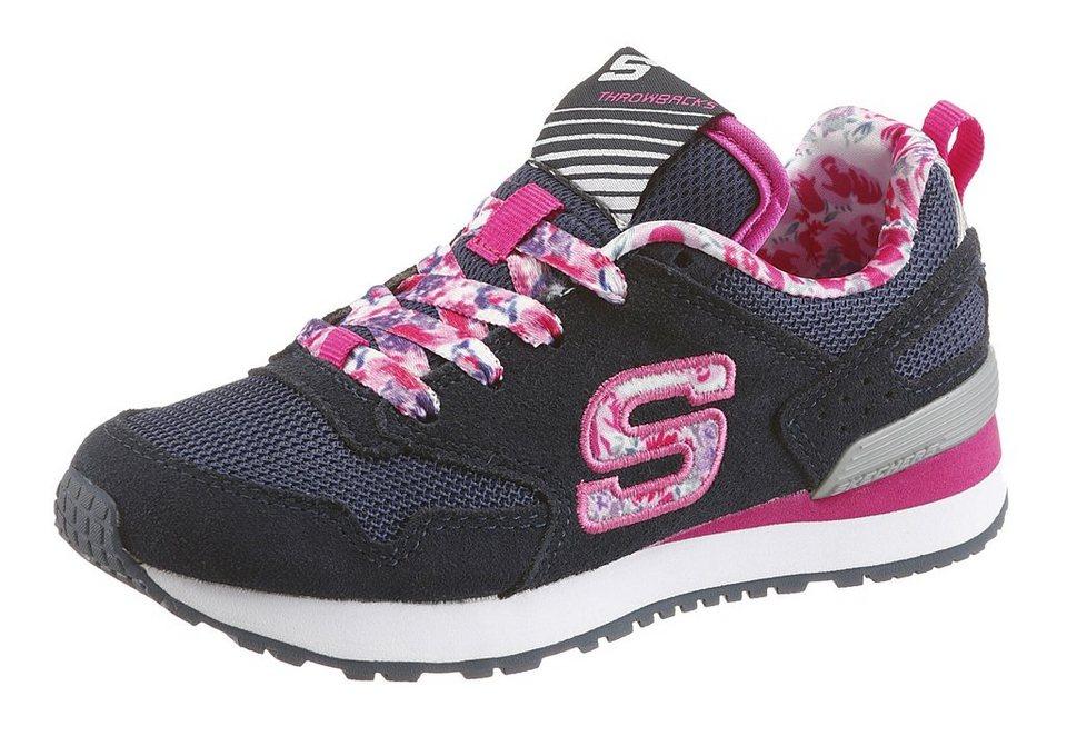 Skechers Kids Sneaker mit Gel Infused Memory Foam in dunkelblau-rosa