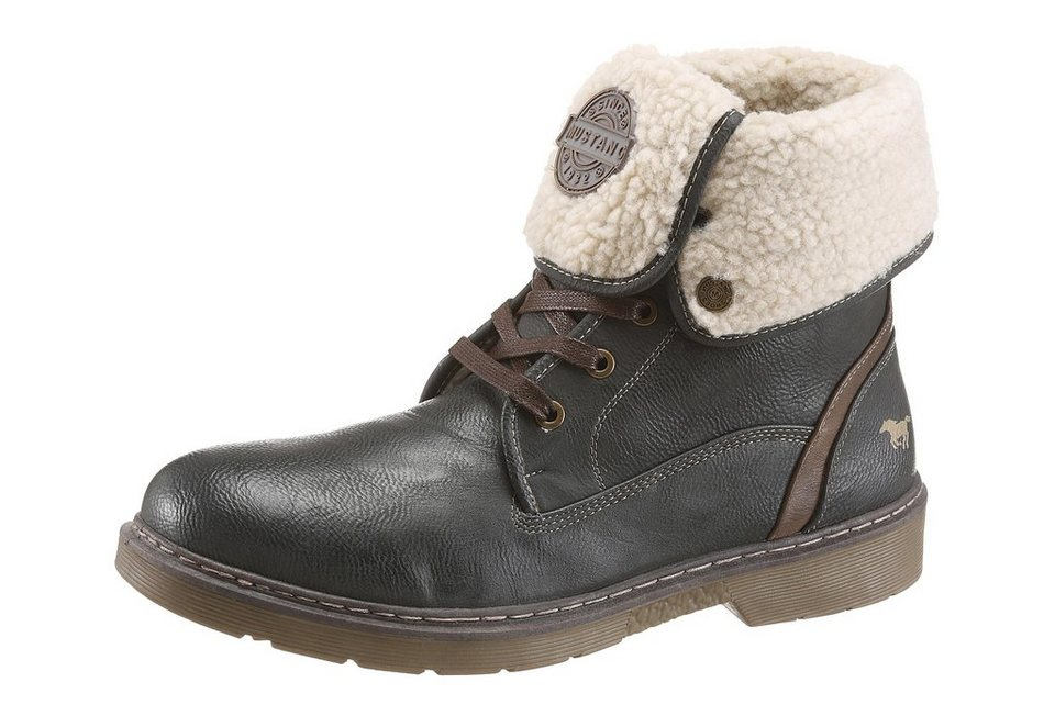 Mustang Shoes Winterstiefel mit Warmfutter in anthrazit