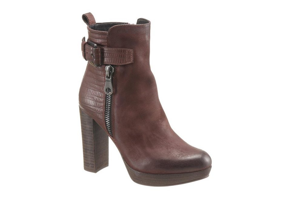 Spm High-Heel-Stiefelette in burgund