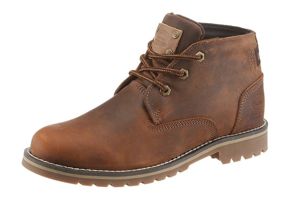 Dockers Schnürboots mit Used Look in braun-used