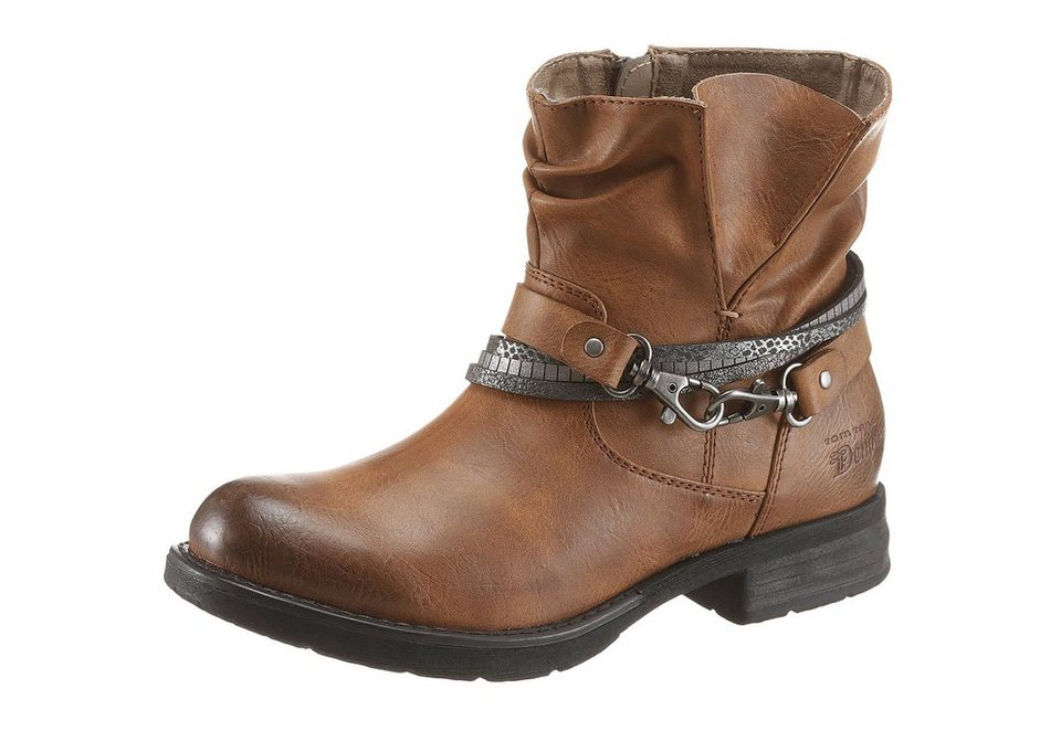 Tom Tailor Bikerboots in cognac