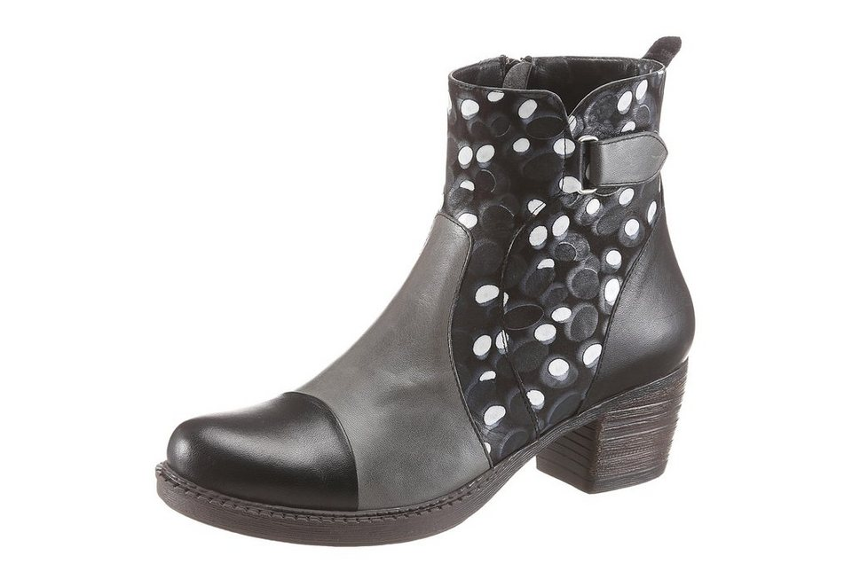 Hush Puppies Stiefelette in schwarz-grau-gepunktet