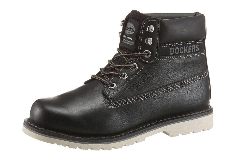 """Dockers Schnürstiefel gefertigt nach der Machart """"Goodyear Welted"""" in schwarz"""
