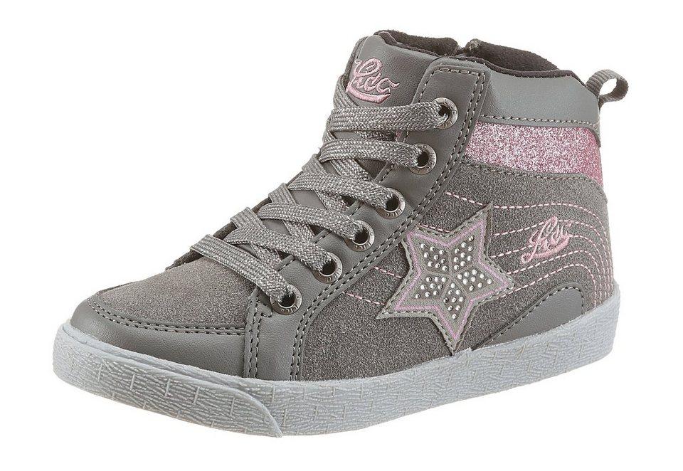 Lico »Famous« Stiefel mit Warmfutter in grau-rosa-silberfarben-metallisierte Fasern