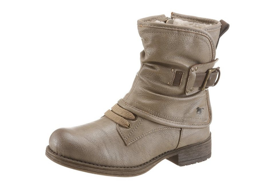Mustang Shoes Stiefel im Used Look in taupe-used
