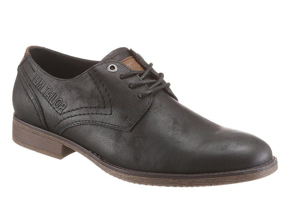 Tom Tailor Schnürschuh in schwarz-braun