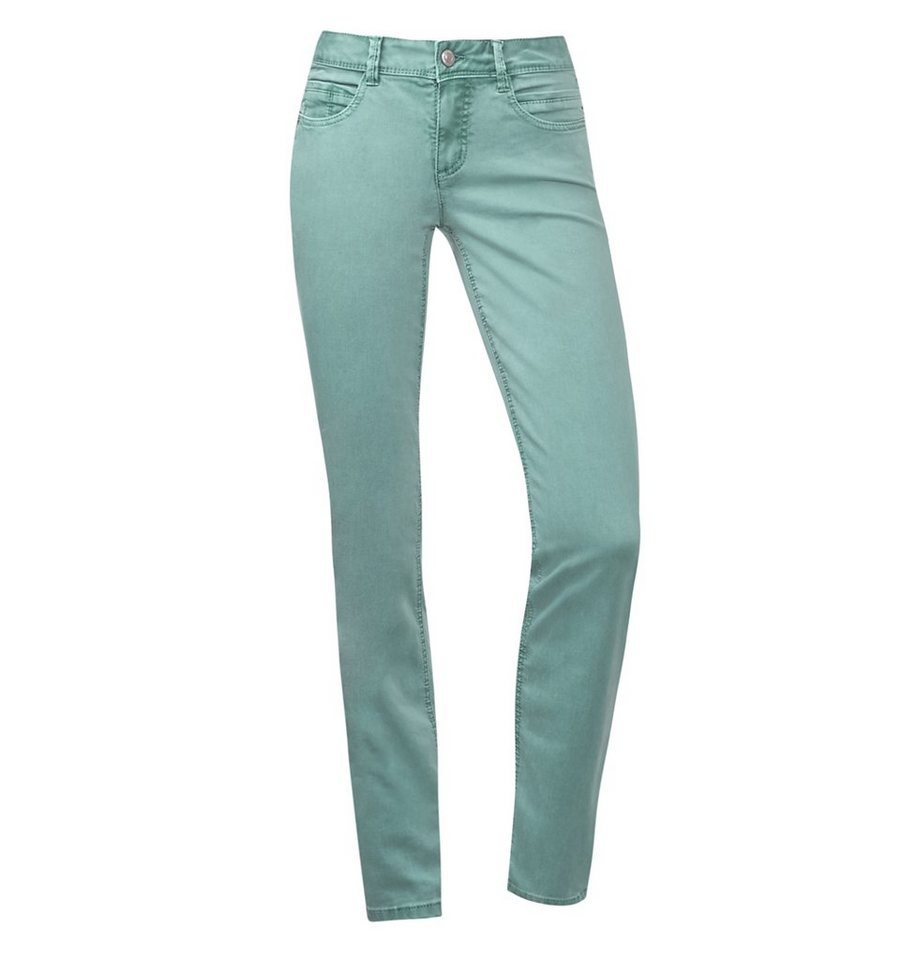Street One Straight Coloured Denim Envy in pearl jade washed
