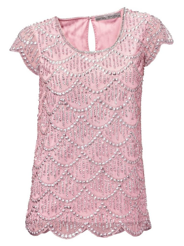 Paillettenshirt in rosé