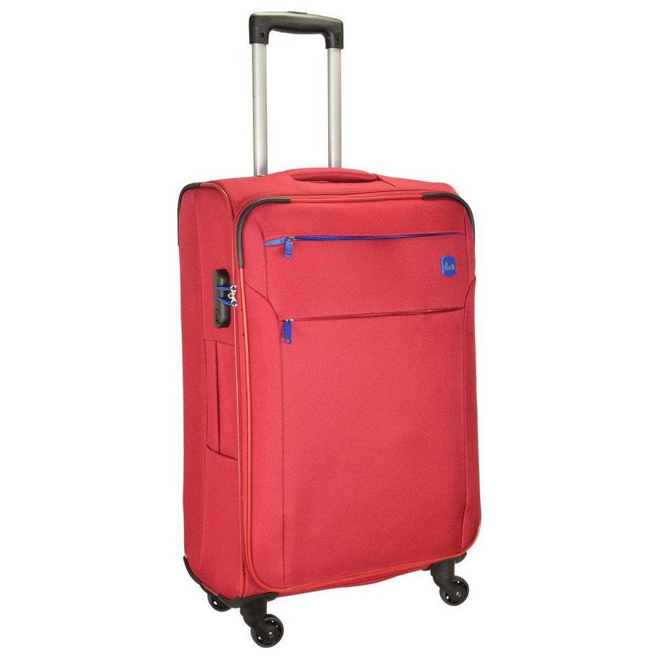 d & n Travel Line 7104 4-Rollen Tolley 72 cm in rot