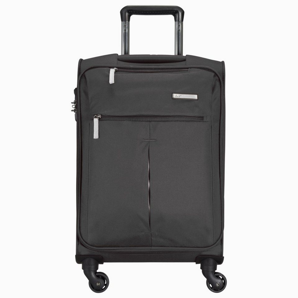 d & n Travel Line 7504 4-Rollen Trolley 66 cm in schwarz