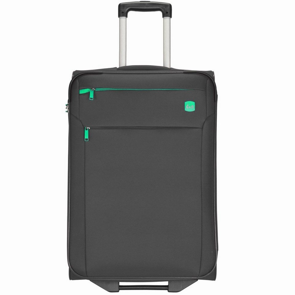 d & n d&n Travel Line 7100 2-Rollen Kabinentrolley 52 cm in schwarz